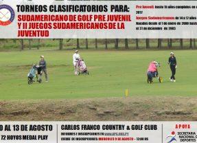Torneos Clasificatorios para Sudamericano Pre Juvenil y II Juegos Sudamericanos de la Juventud