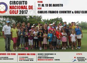 Circuito Nacional de Golf – Mayores 5ta Fecha y Menores 8va Fecha