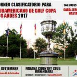 Clasificatorio para Sudamericano Copa los Andes – Caballeros