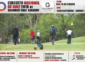 Circuito Nacional de Golf 2018 – 1ra Fecha Mayores y Menores – Club Centenario