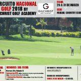 Circuito Nacional de Golf 2018 -2da Fecha Mayores y 3ra Fecha Menores – Parana Country Club – Hernandarias